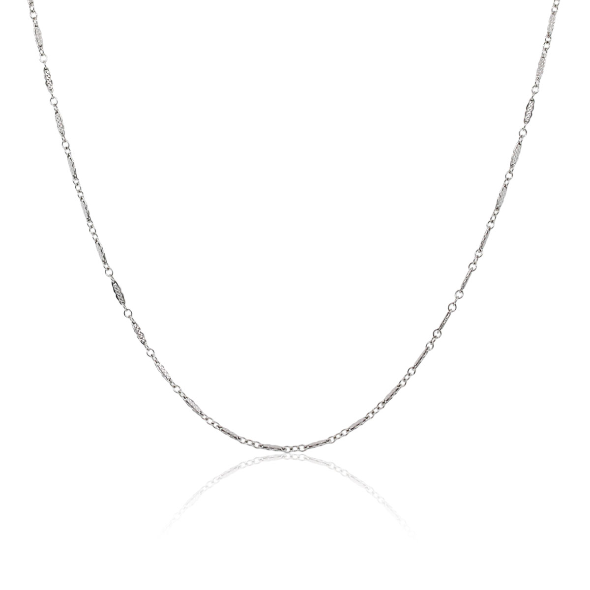 "Image of ""14K White Gold Link Chain Necklace"""