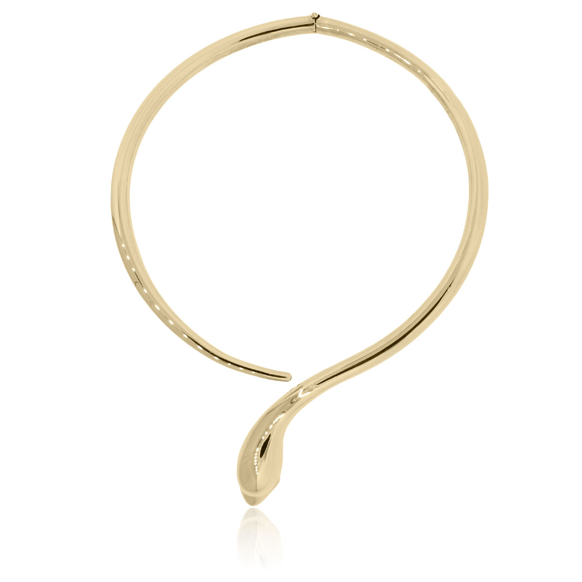"Image of ""Ilias Lalaounis 18K Yellow Gold Snake Choker Necklace"""