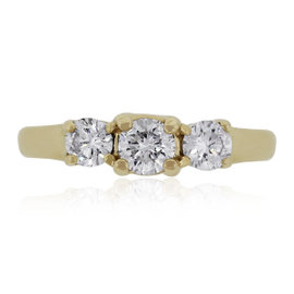 14K Yellow Gold and 1ct Diamonds Engagement Ring Size 7