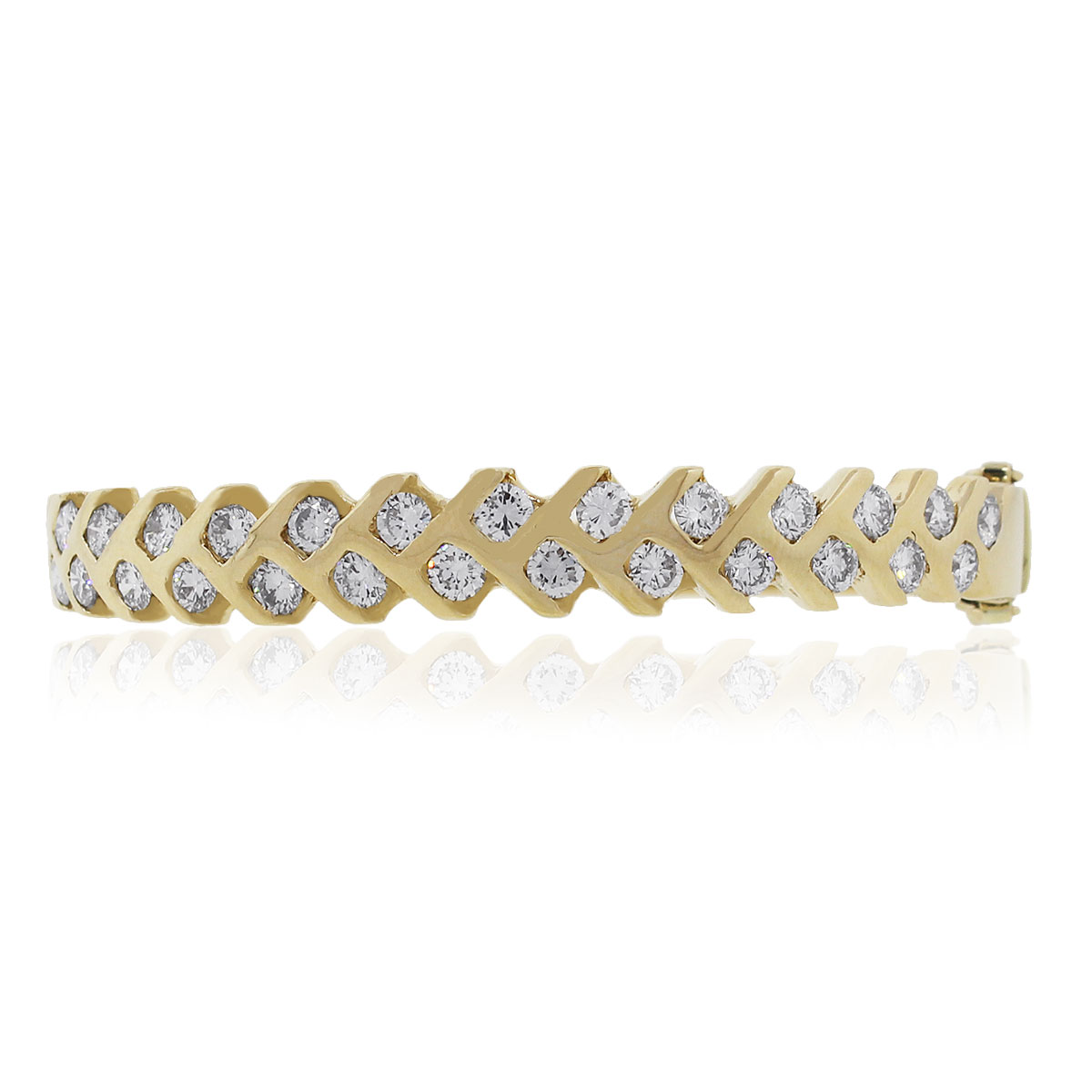 "Image of ""14K Yellow Gold with Diamond Bracelet"""