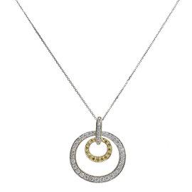 14K Yellow & White Gold 1.40ct Diamond Pendant Necklace
