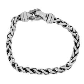 David Yurman 925 Sterling Silver Woven Chain Bracelet