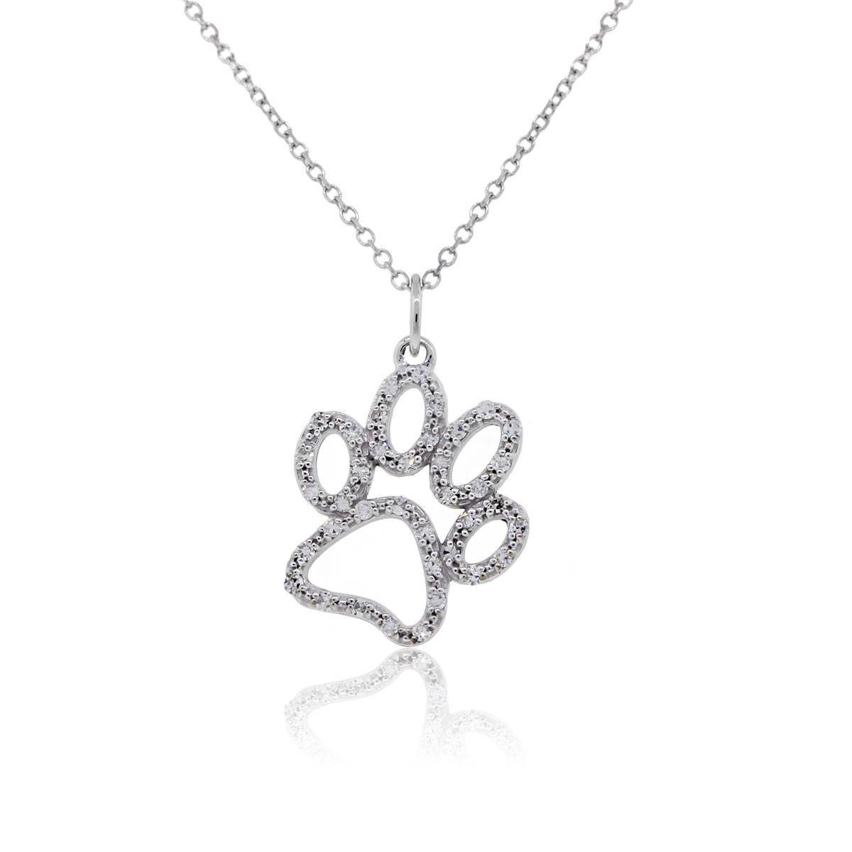"Image of ""KC Designs 14K White Gold Diamond Pendant Necklace"""