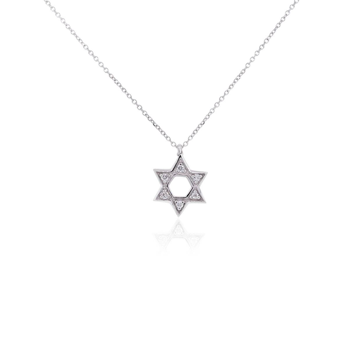 "Image of ""KC Designs 14K White Gold 0.10ct Diamond Star of David Pendant"""