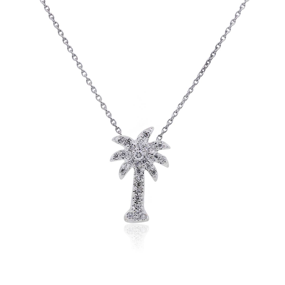 "Image of ""KC Designs 14K White Gold 0.10ct Diamond Pendant Necklace"""