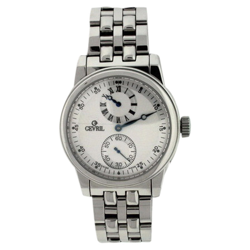 "Image of ""Gevril Regulator Stainless Steel Silver Dial 40mm Mens Watch"""