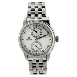 Gevril Regulator Stainless Steel Silver Dial 40mm Mens Watch