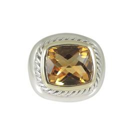 David Yurman Sterling Silver 14K Yellow Gold Citrine Albion Ring