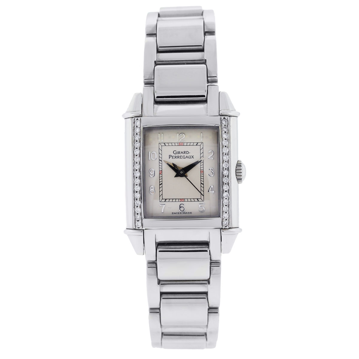 "Image of ""Girard Perragaux 2591 Stainless Steel Diamond Bezel 25mm Womens Watch"""
