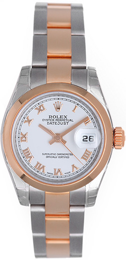 """Image of """"Rolex Datejust 179161 Stainless Steel & Rose Gold Diamond 26mm Womens"""""""