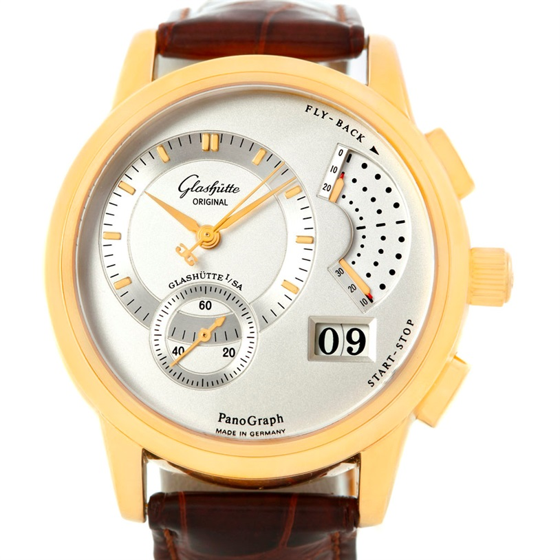 "Image of ""Glashutte PanoGraph 61-03-25-15-04 Manual 18K Yellow Gold 39.4mm Mens"""