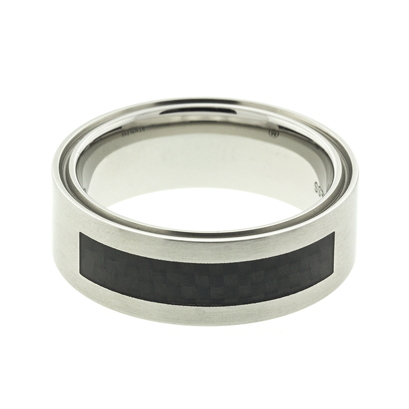 "Image of ""Movado Stainless Steel Band Ring"""