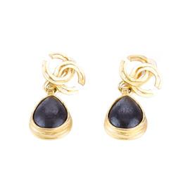 Chanel 97A Teardrop CC Logo Earrings