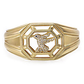 Slane & Slane 18K Yellow Gold Diamond Hummingbird Cuff