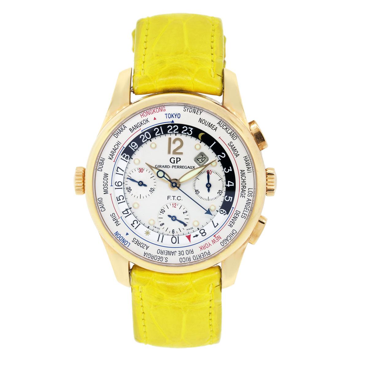 """Image of """"Girard Perregaux Worldtimer 49805 18K Rose Gold 43mm Mens Watch"""""""