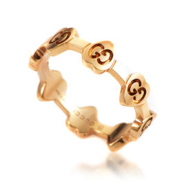 Gucci Icon 18K Rose Gold Heart Band Ring