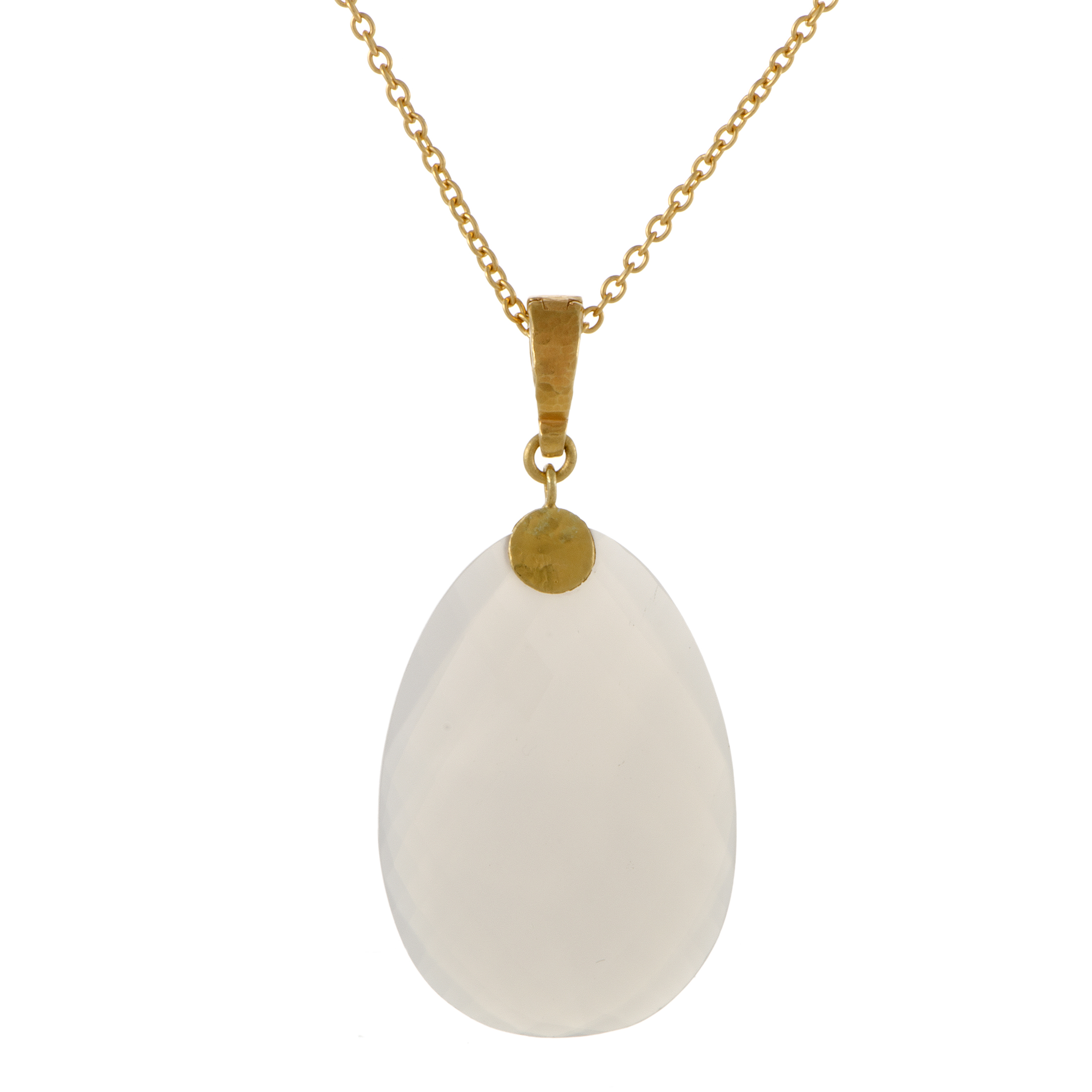 "Image of ""Gurhan 24K and 22K Yellow Gold Quartz Pendant Necklace"""