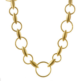 Gurhan Wheatla 24K and 22K Yellow Gold Round Link Necklace
