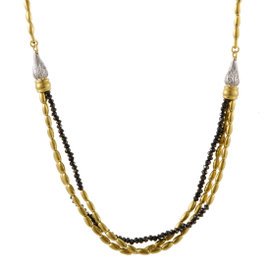 Gurhan Sultan 24K Yellow Gold and 18K White Gold 8.41ct. Diamond Necklace