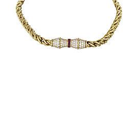 Hammerman Brothers 18K Yellow Gold Diamond & Ruby Choker Necklace