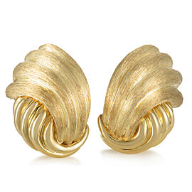 Henry Dunay 18K Yellow Gold Clip-on Earrings