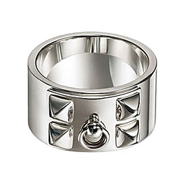 Hermes Collier de Chien CDC Solid Silver Ring