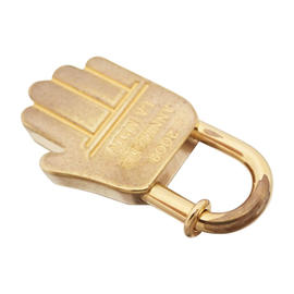 Hermes Goldtone Cadena Charm Pendant