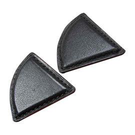 Hermes Black Leather Earrings