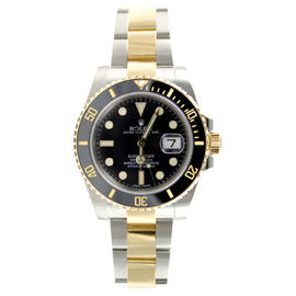 Rolex Submariner 116613 Heavy Band Black Cerachrom Bezel and Glidelock Band Most Current Model Watch