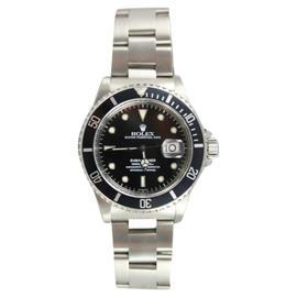 Rolex Submariner 16610 Stainless Steel Date Model Black Face & Bezel - 90's Watch