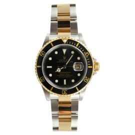 Rolex Submariner 16613 Stainless Steel and Gold Black Dial