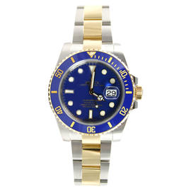 Rolex Submariner 116613 Heavy Band Blue Cerachrom Bezel and Glidelock Band Most Current Model Watch