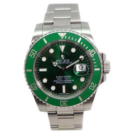 Rolex Submariner 116610 Heavy Band Green Cerachrom Bezel and Dial Glidelock Band Most Current Model Watch