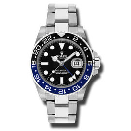 Rolex GMT Master II 116710BLNR Ceramic Black & Blue Bezel Stainless Steel New Style Heavy Band, Unused 2015 mdoel Watch