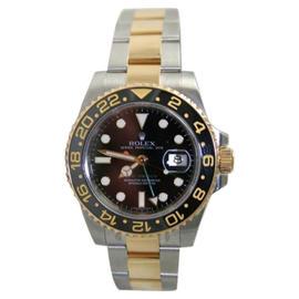 Rolex GMT Master II 116713 Stainless Steel & 18K Gold Ceramic Bezel Watch