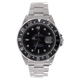 Rolex GMT Master II 16710 Classic Stainless Steel Black Dial and Black Bezel Model - 90's Watch