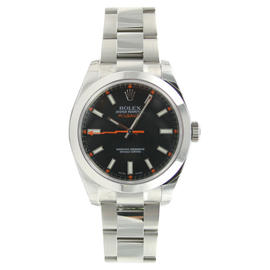 Rolex MILGAUSS Black Dial In Stainless Steel Model 116400 Watch