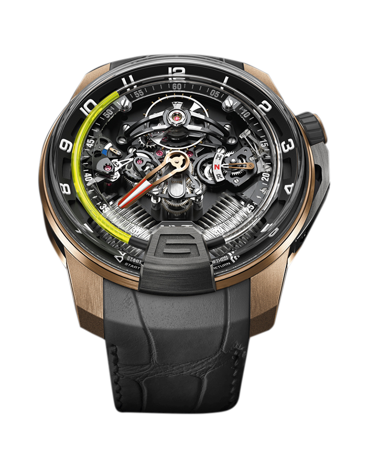 "Image of ""H2 Titanium Black DLC & 18K Rose Gold Watch"""