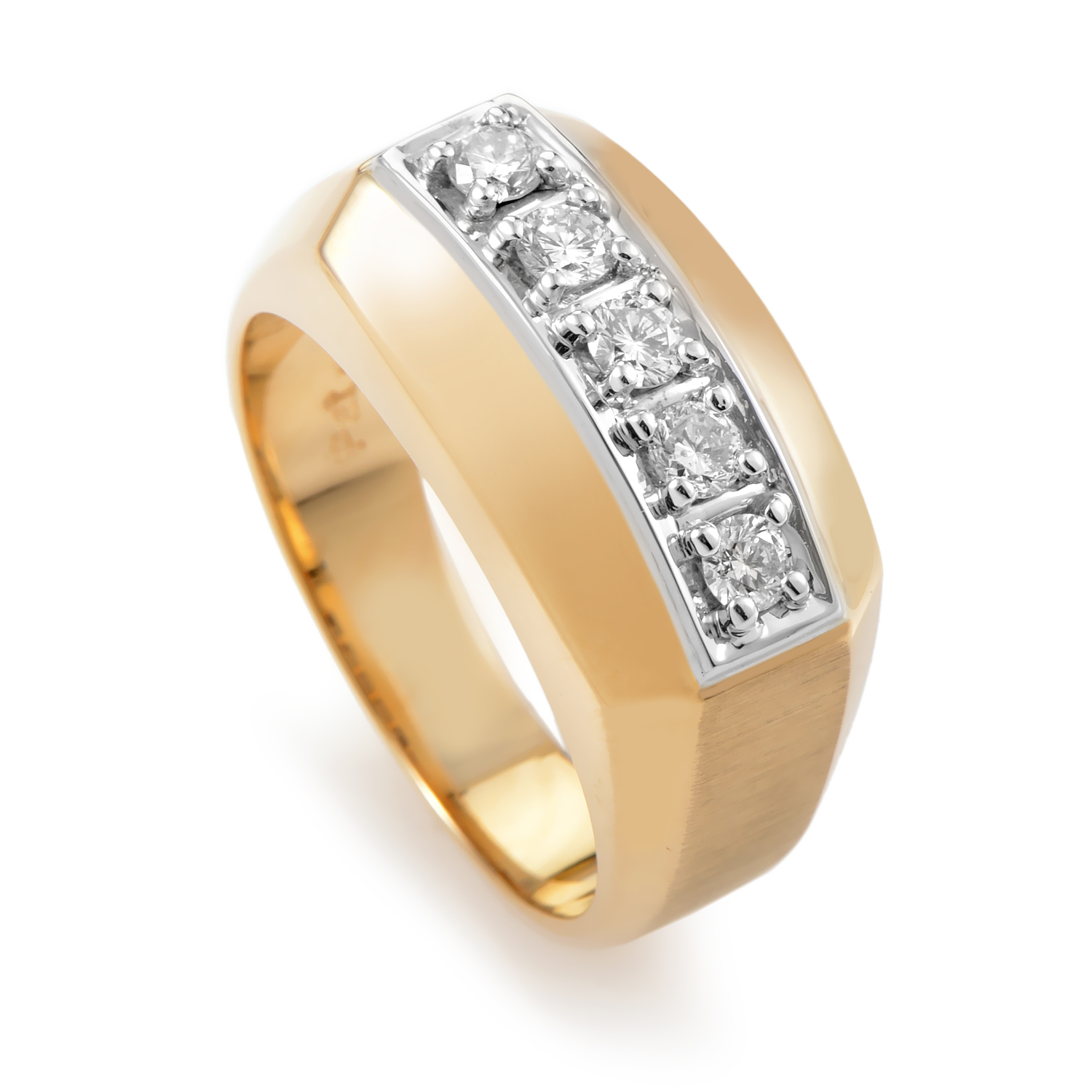 "Image of ""I.b. Goodman 14K Multi-Tone Gold & Diamond Band Ring"""