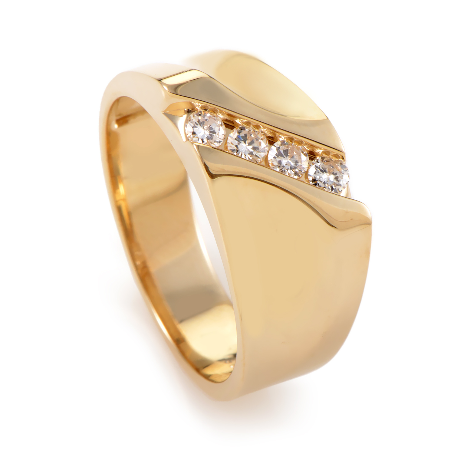 "Image of ""I.b. Goodman 14K Yellow Gold Diamond Ring"""