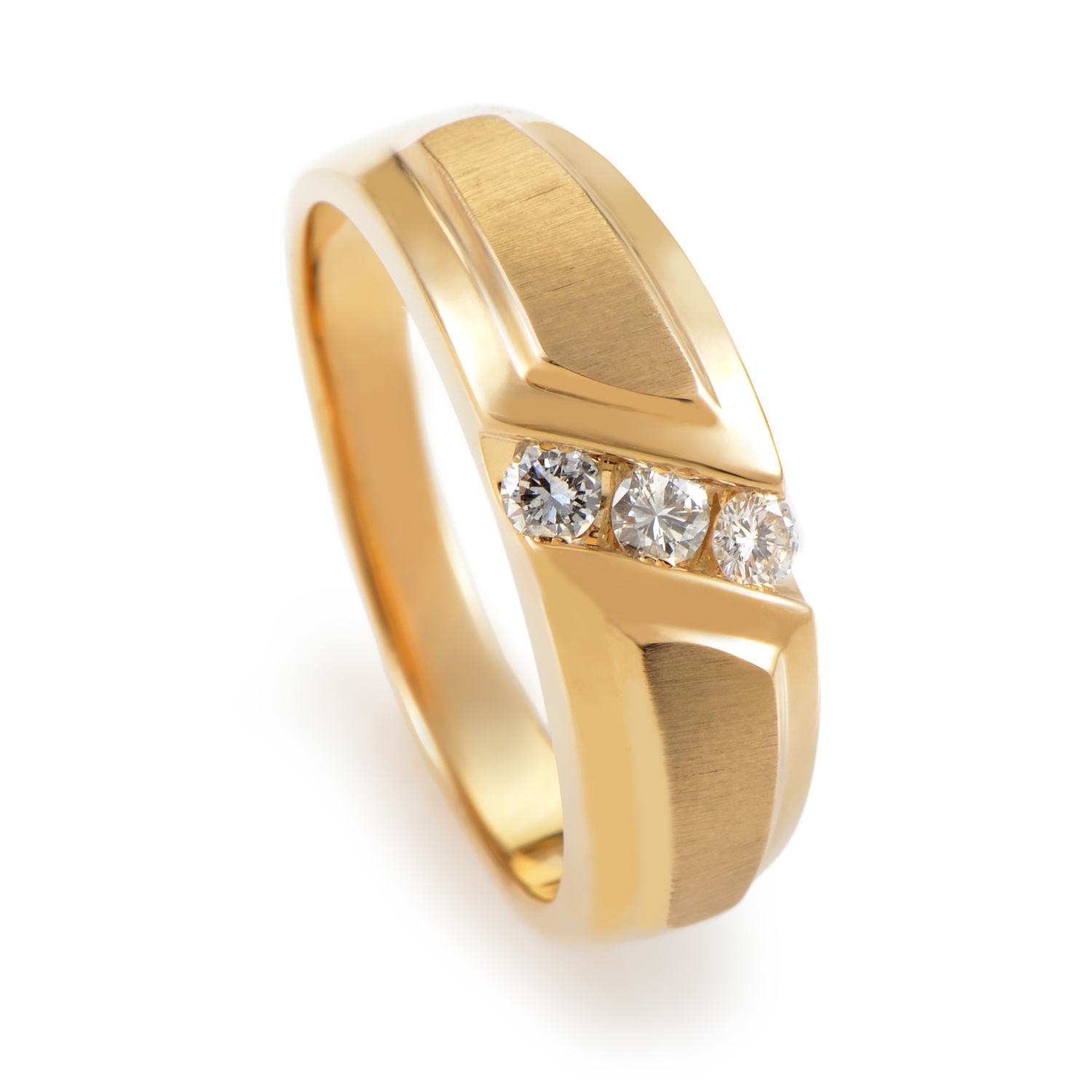"Image of ""I.b. Goodman 14K Yellow Gold Diamond Band Ring"""