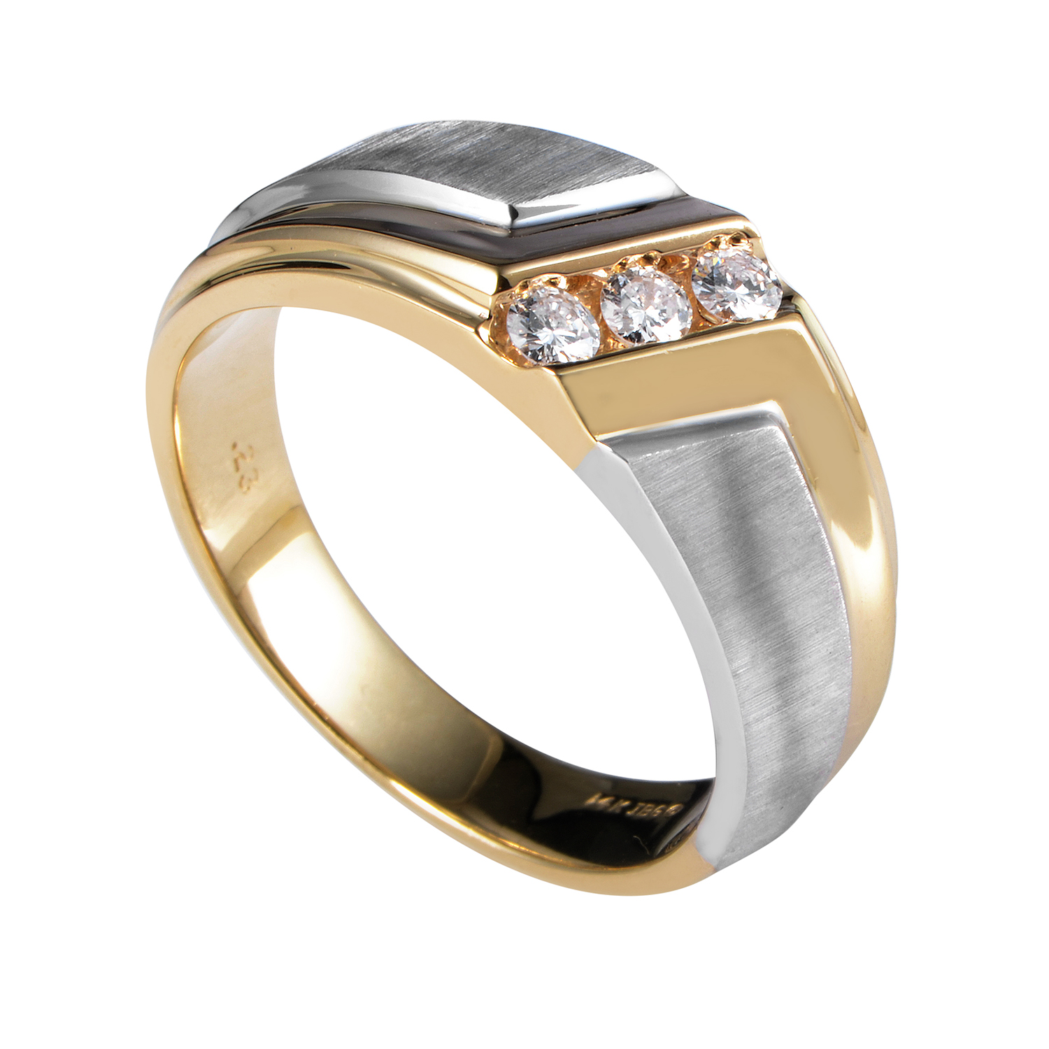 "Image of ""I.b. Goodman 14 Multi-Tone Gold Diamond Band Ring"""