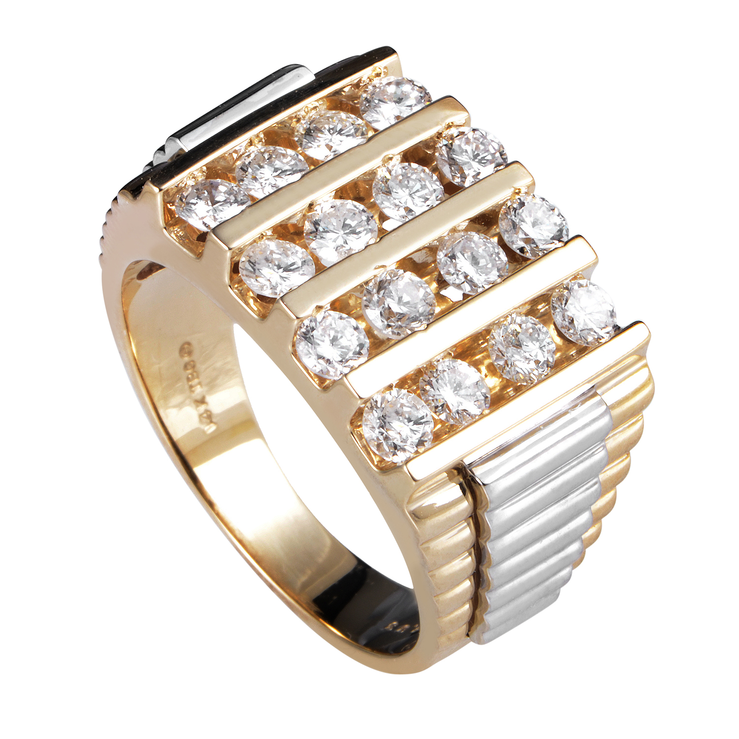 "Image of ""I.b. Goodman 14K Multi-Tone Gold Diamond Ring"""