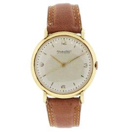 IWC Schaffhausen 18K Yellow Gold On Brown Leather Unisex Watch