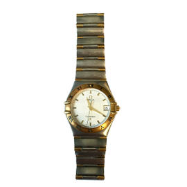 Omega Constellation 18K Yellow Gold and Stainless Steel 33mm Watch