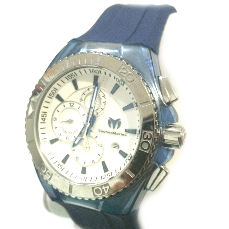 "Image of ""Technomarine Blue Cruise Stainless Steel 47mm Watch"""