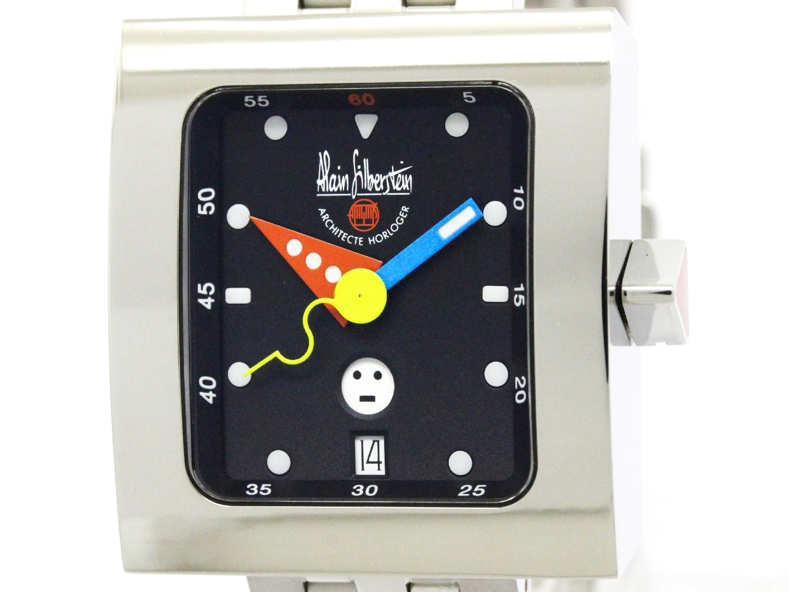"Image of ""Alain Silberstein Vs11 Stainless Steel Automatic 34mm Mens Watch"""