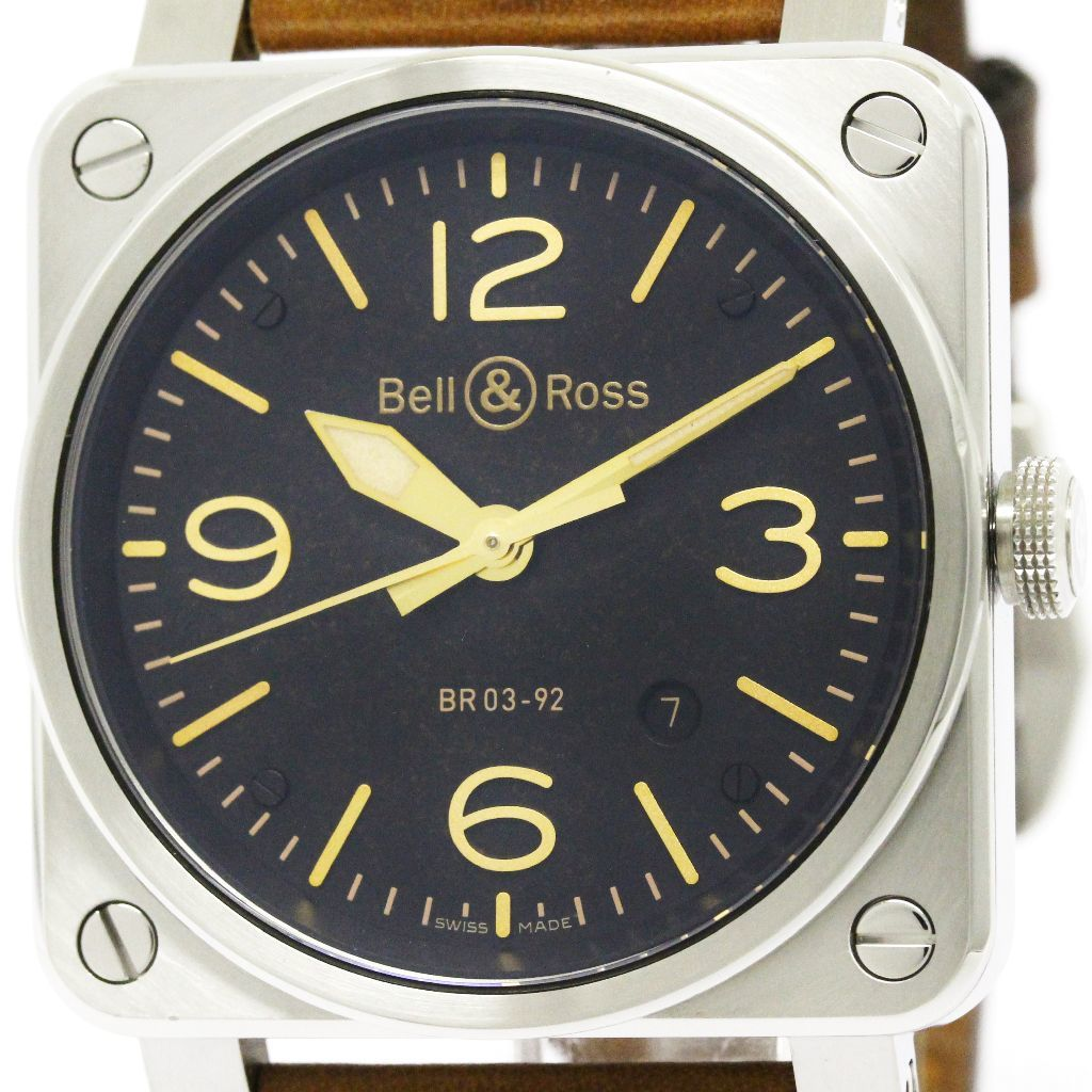 "Image of ""Bell & Ross Br03-92 Golden Heritage Stainless Steel & Leather"""