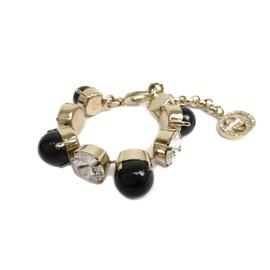 Gucci Gold Tone Hardware Rhinestone Bracelet