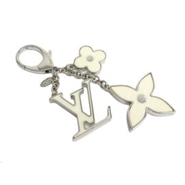 Louis Vuitton Bijoux Sac Fleur De Epi Silver Tone Hardware Key Ring
